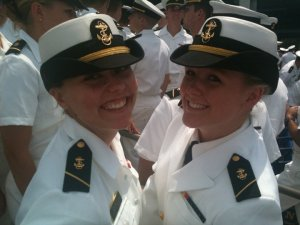 Julia (on right)