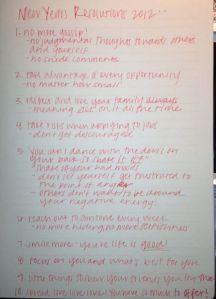 Kristy's resolutions